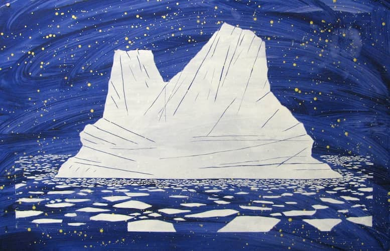 iceberg inspired art