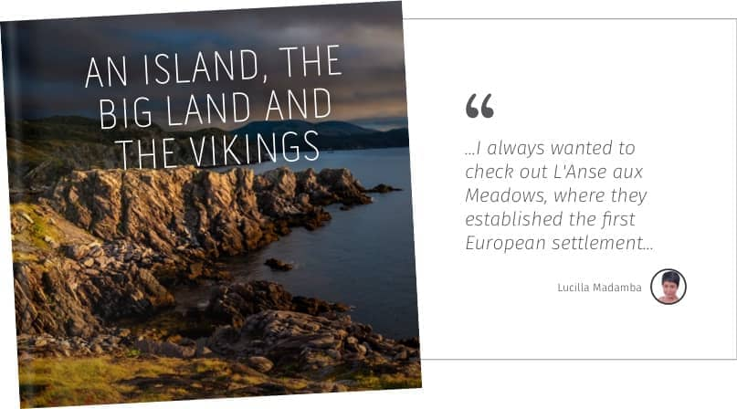 An Island, the big land and the vikings