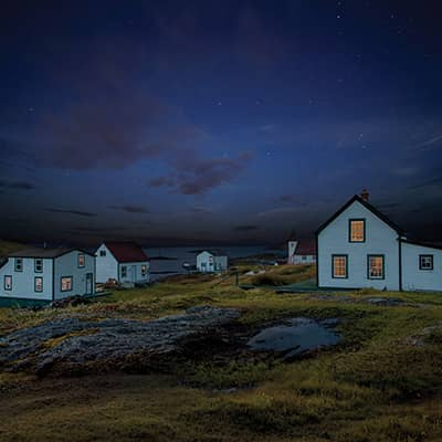 Battle Harbour at Night