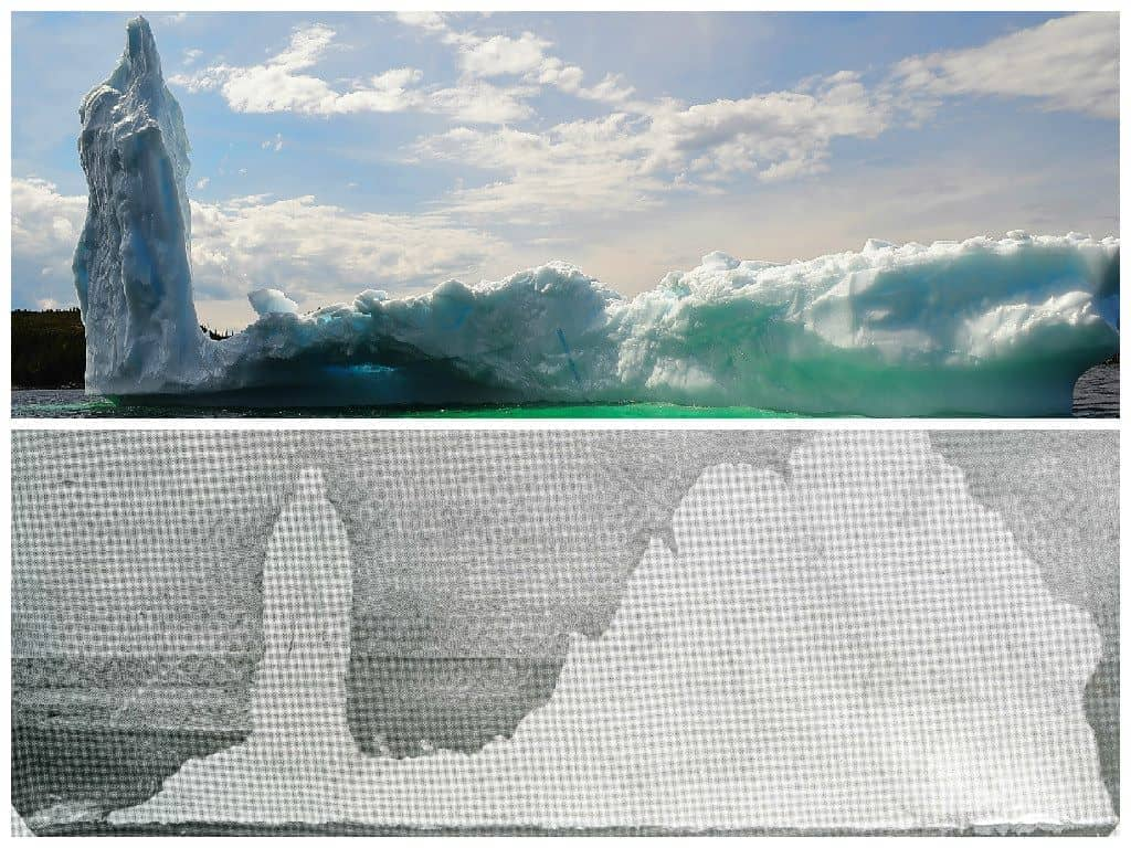 Top- Captain David Boyd, Prime Berth  Bottom- Mysterious Iceberg in St. John's Narrows, T.B. Hayward. June 24, 1905