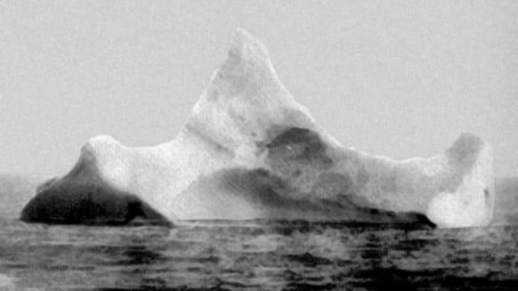 Titanic Iceberg Image - United States Coast Guard