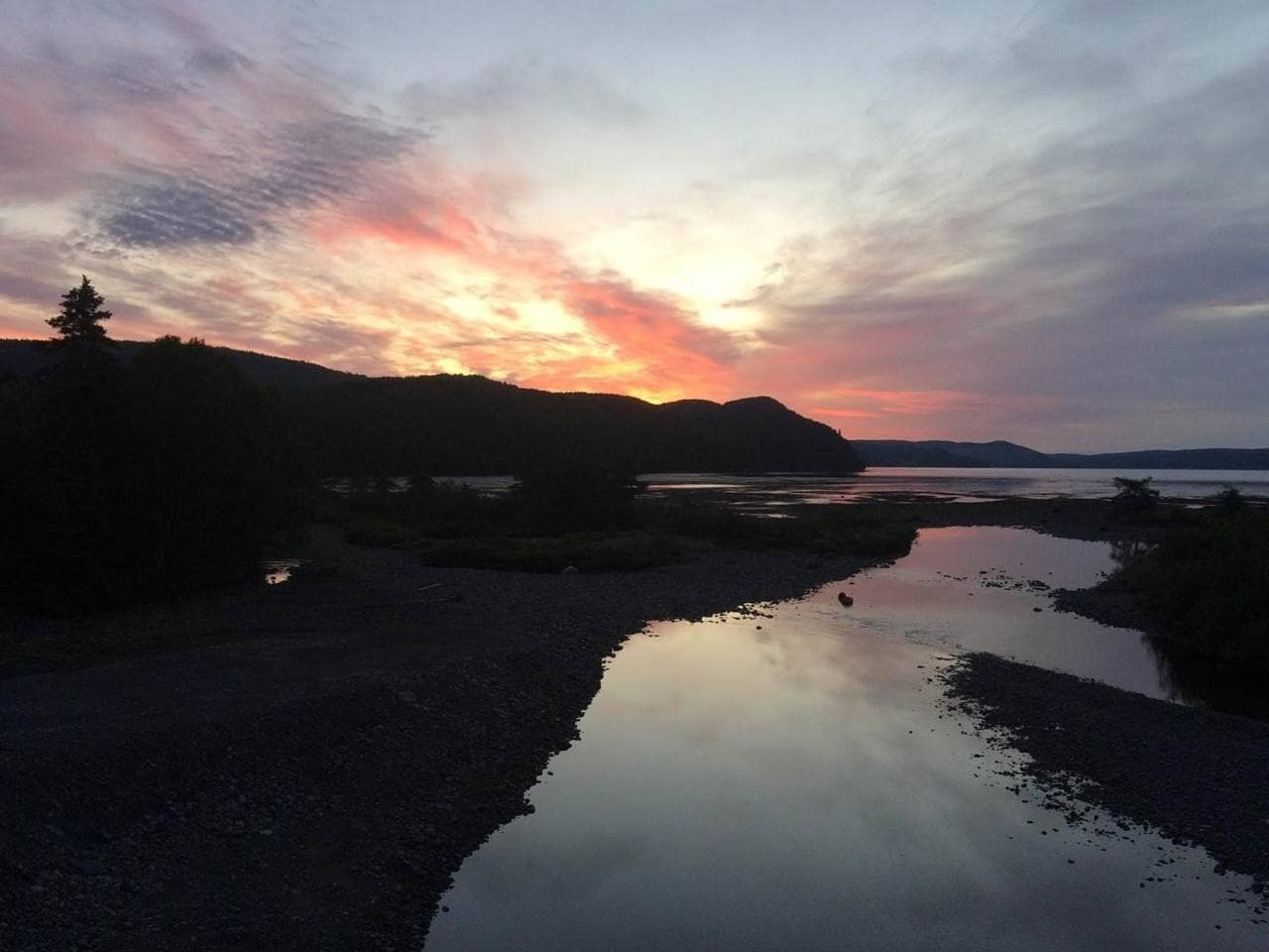Sunrise in St. Alban's, Newfoundland and Labrador