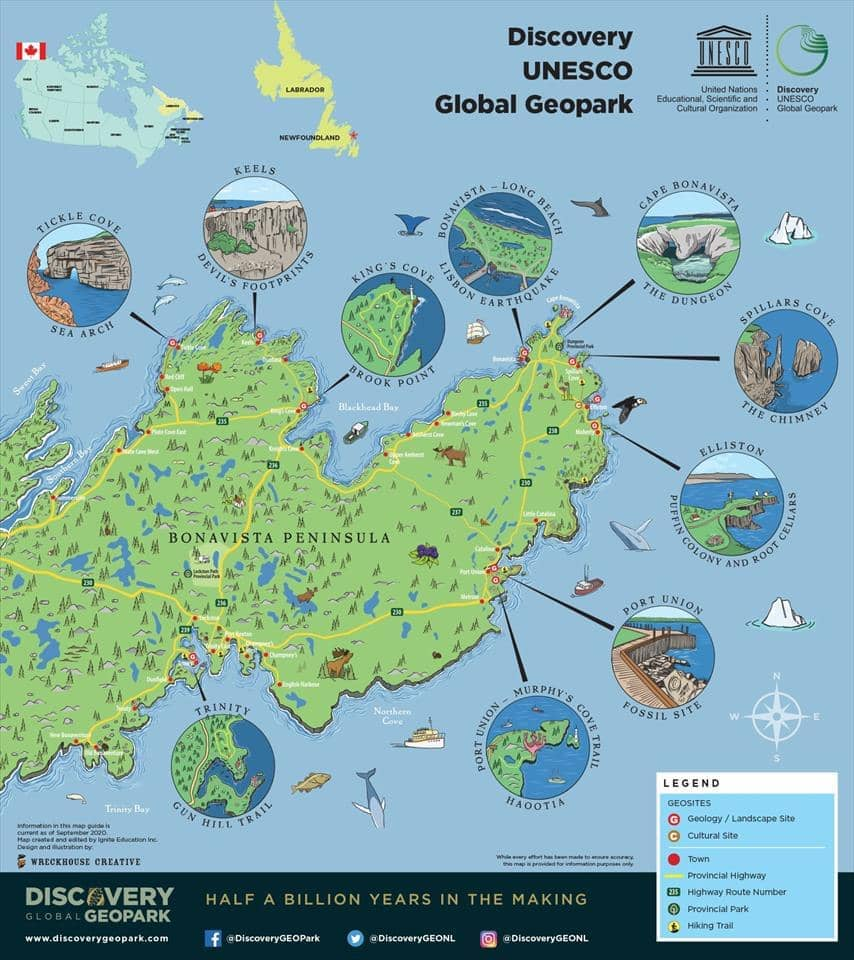 map of the Discovery UNESO Global Geopark