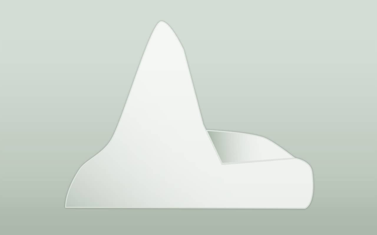 Iceberg with a pinnacle shape