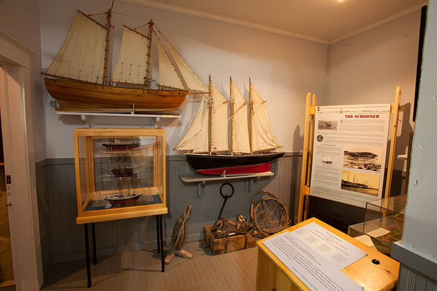 Artifacts on display at the Wooden Boat Museum, Winterton NL