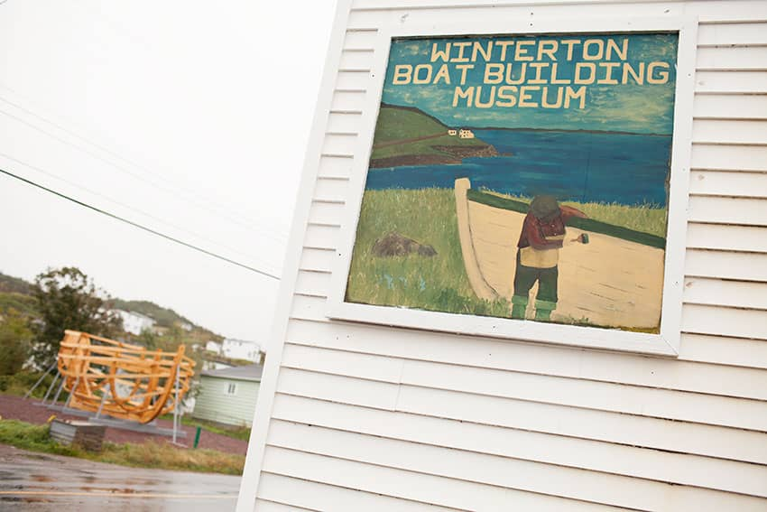 Exterior of the Wooden Boat Museum, Winterton NL