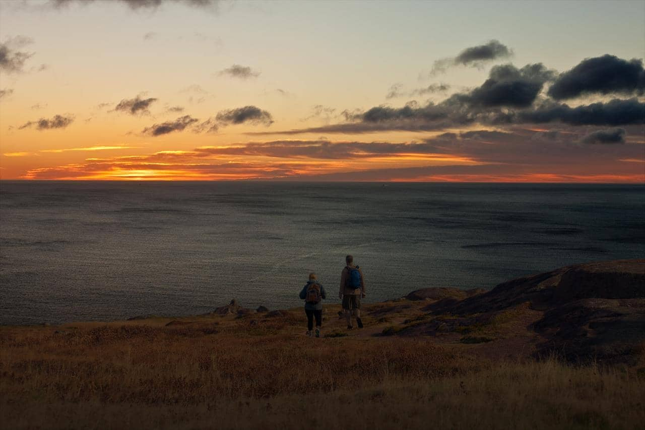 Watching the sunrise at Cape Spear National Historic Site