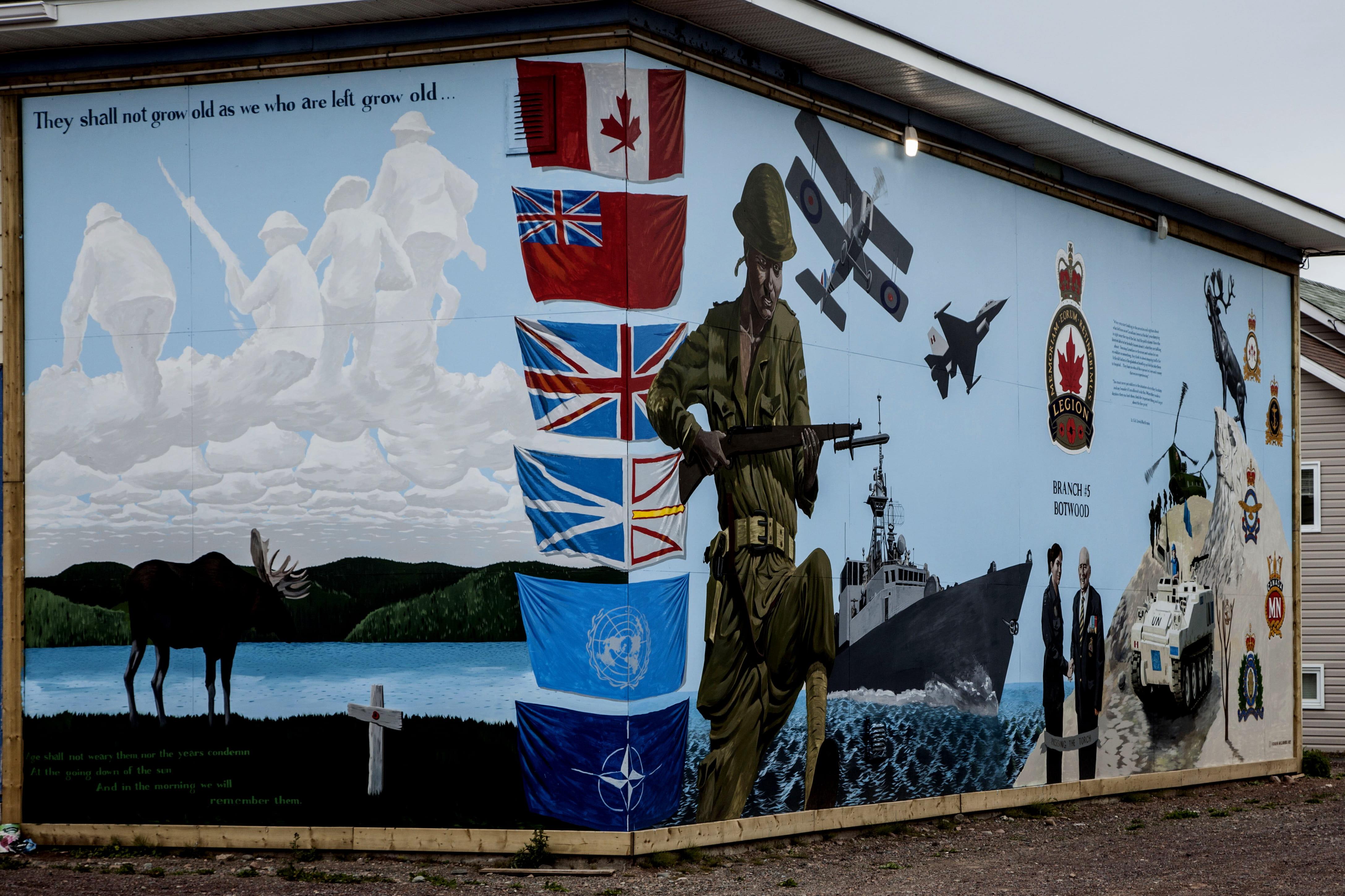 Honouring Our Fallen mural, Botwood