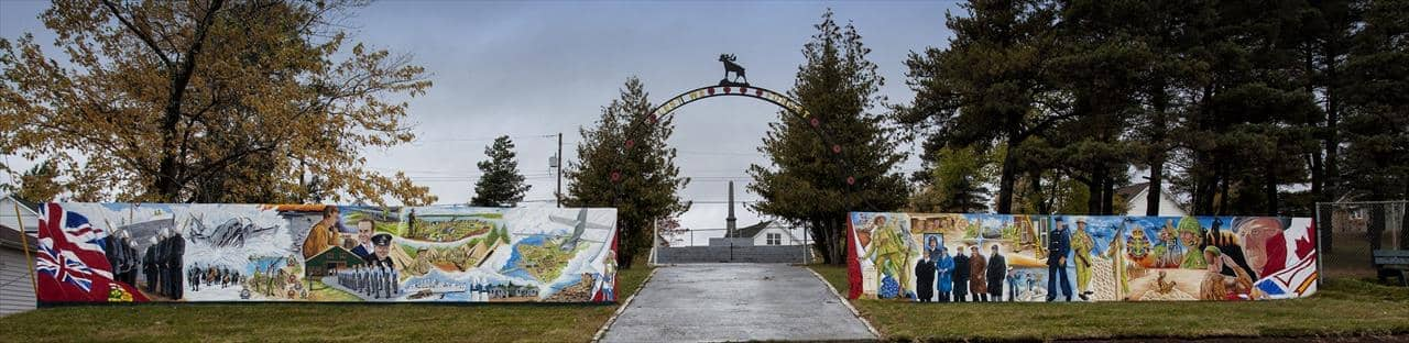 Salute to Our Veterans mural, Botwood