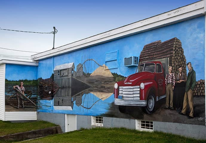 Sceviour's Sawmill mural, Botwood