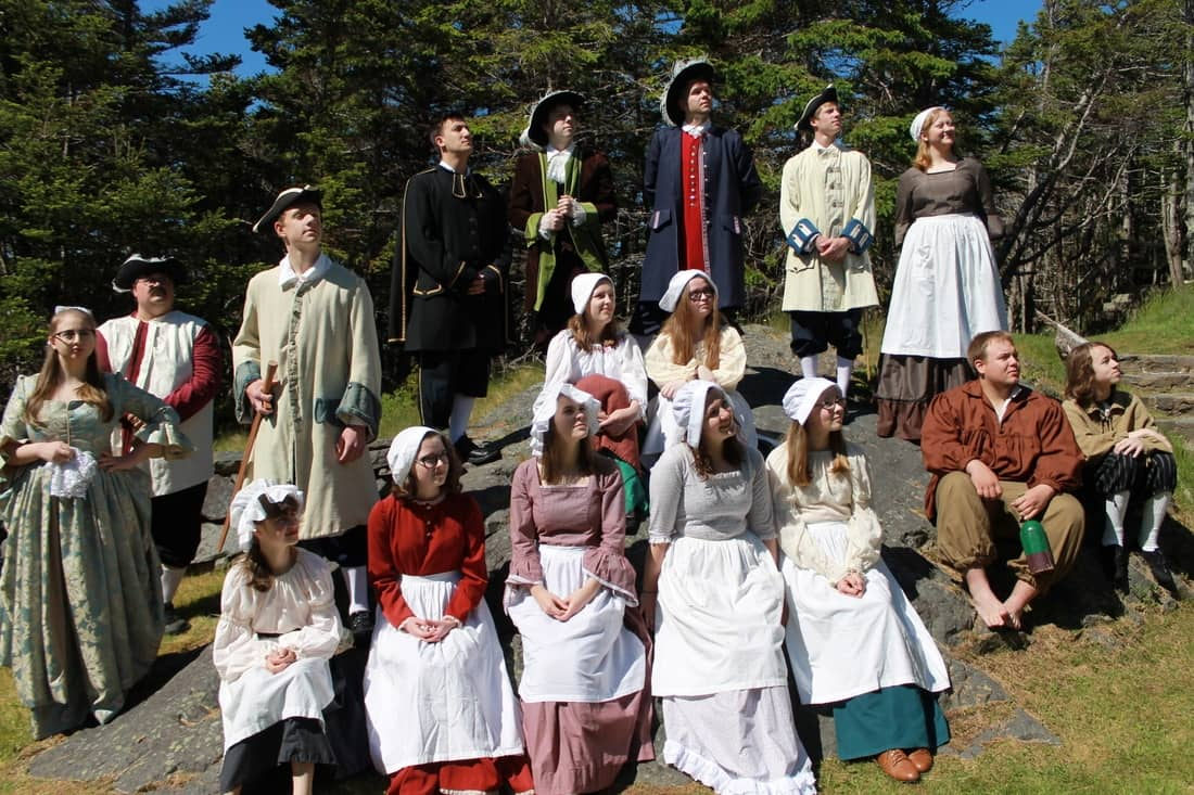 Re-enactment at Castle Hill National Historic Site