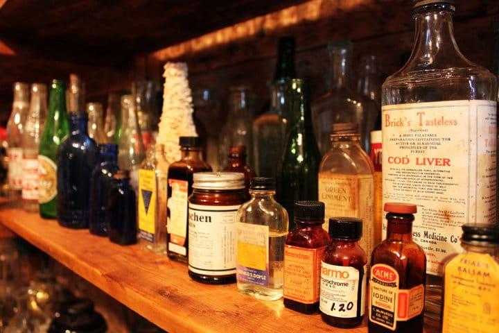Change Island random selection of bottles and jars