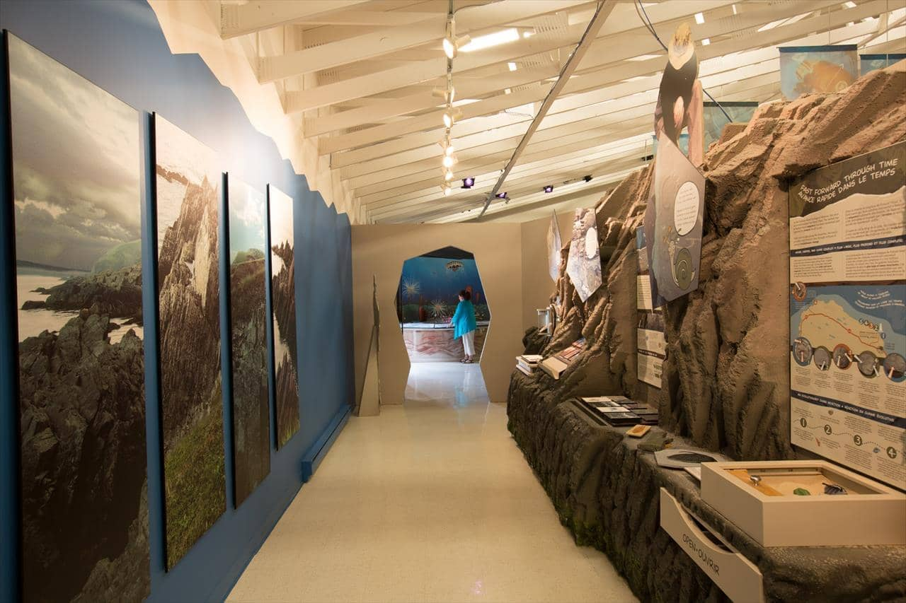 Inside the Fortune Head Geology Centre, Fortune