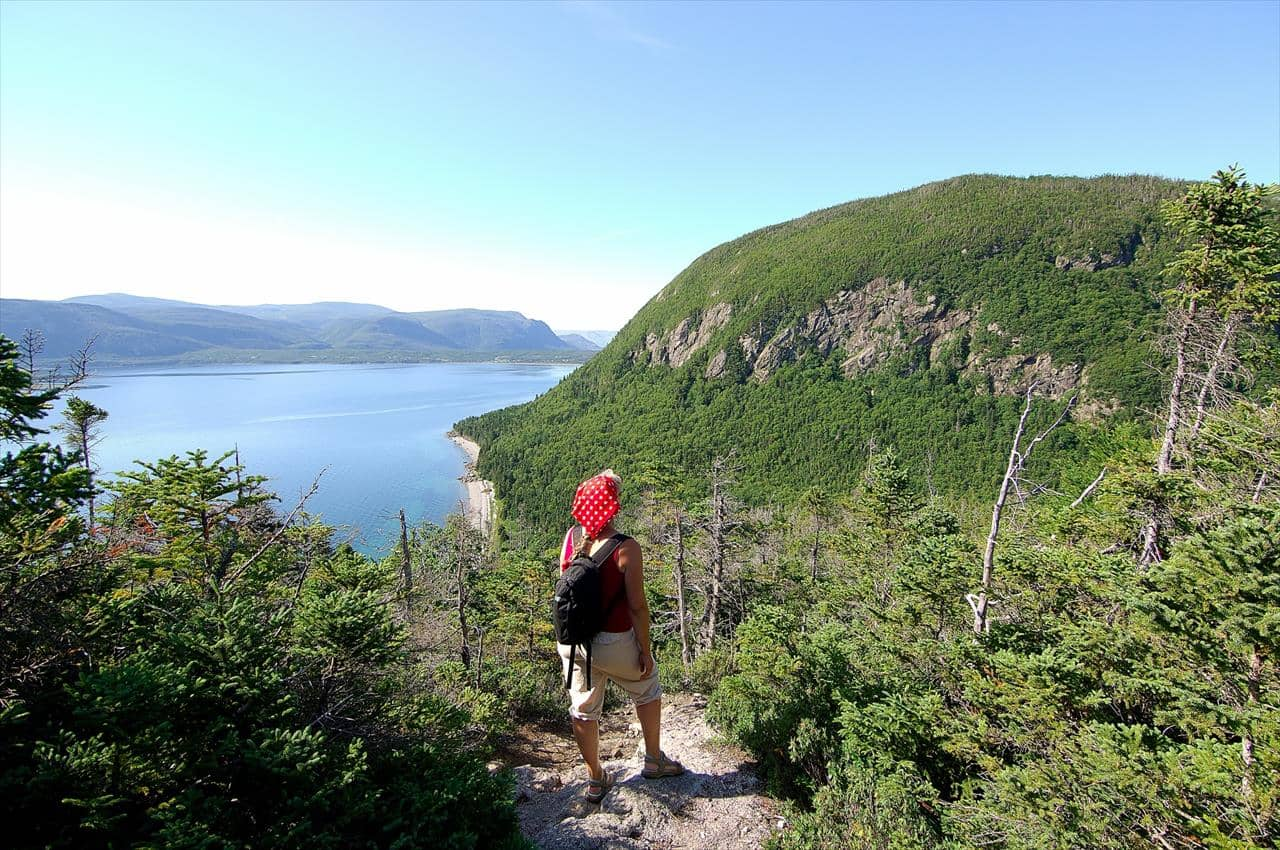 Hiking in Blow Me Down Provincial Park, Western Newfoundland