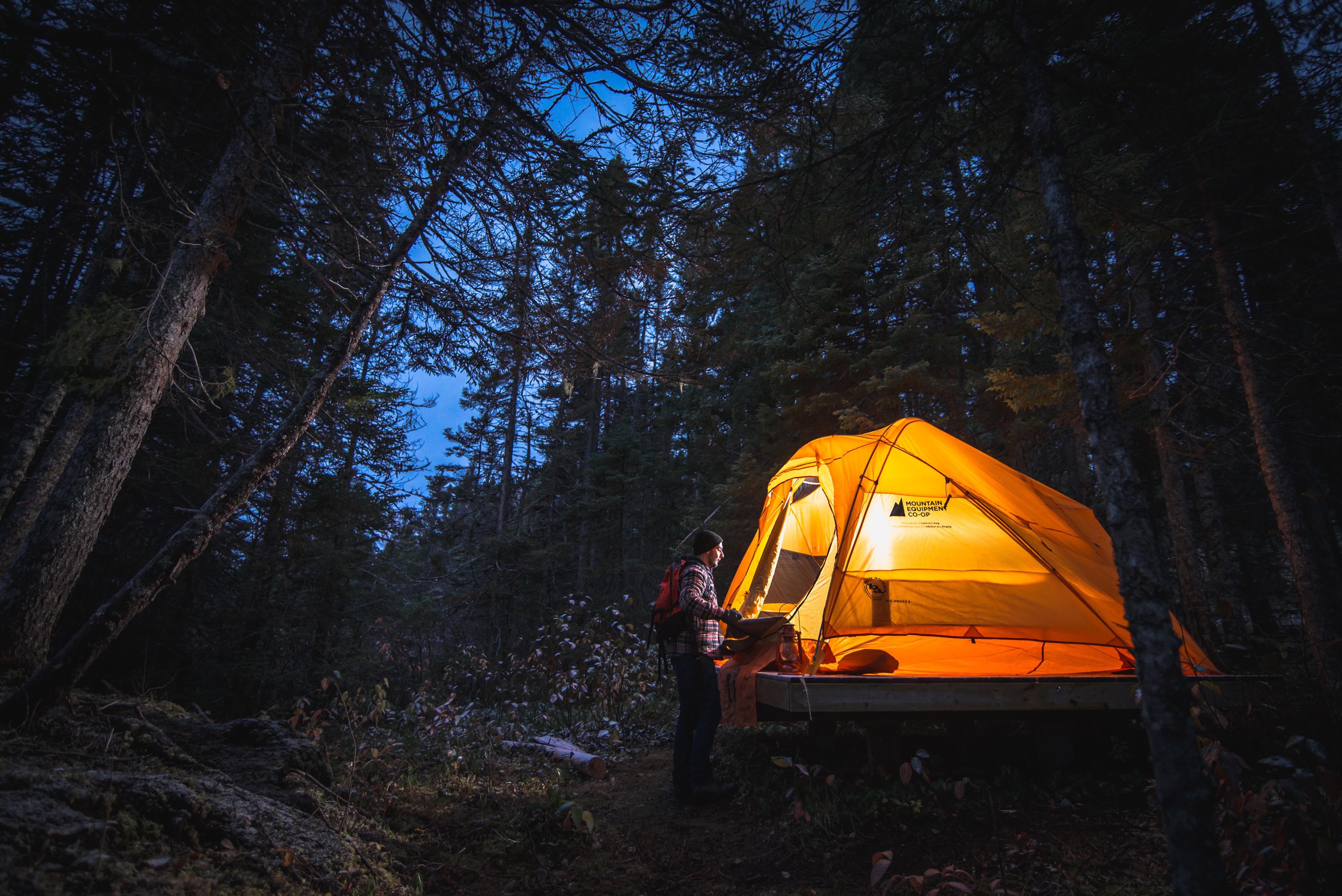 Campsite at  Terra Nova National Park