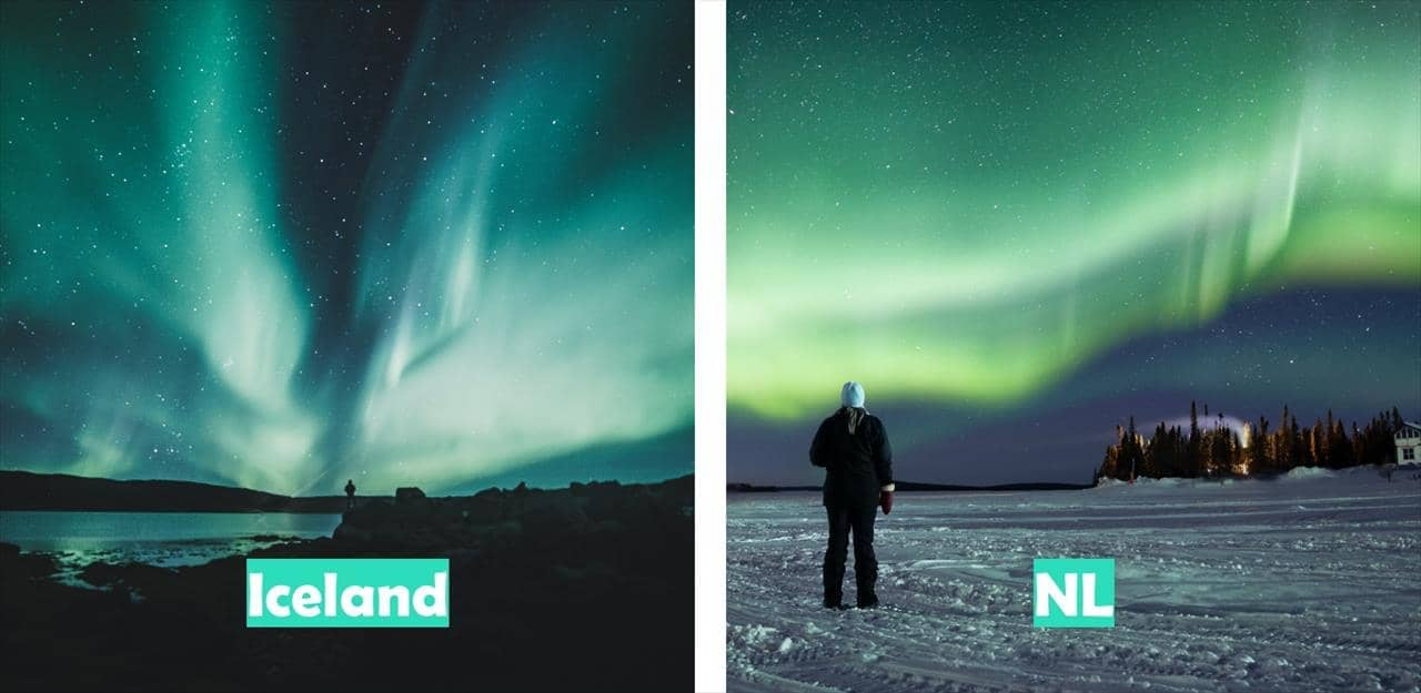 Iceland vs Newfoundland & Labrador (Northern lights)