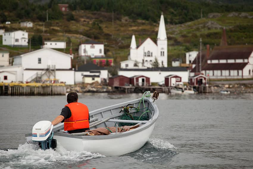 Going for a spin, boating at the Wooden Boat Museum, Winterton NL