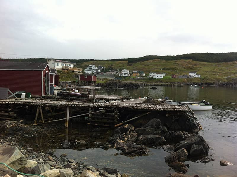 Fishing stage at the Wooden Boat Museum, Winterton NL