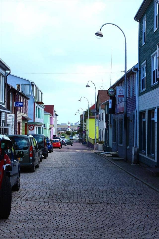 A street in Saint Pierre and Miquelon
